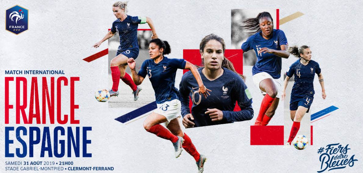 Féminines: France / Espagne au stade G. Montpied