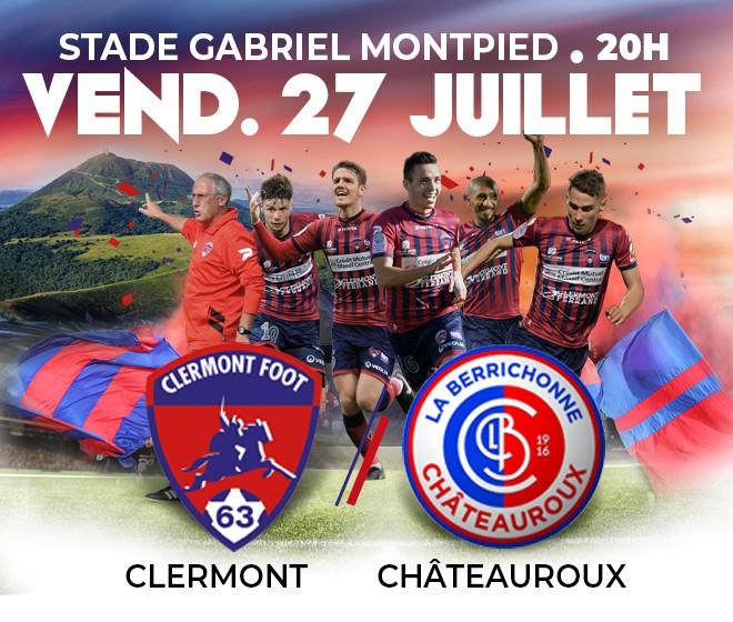 Clermont - Châteauroux: reprise du championnat vendredi 27 juillet !