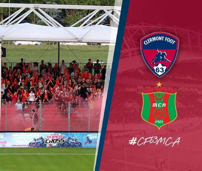 Clermont - MC Alger au stade Montpied vendredi 29 juin