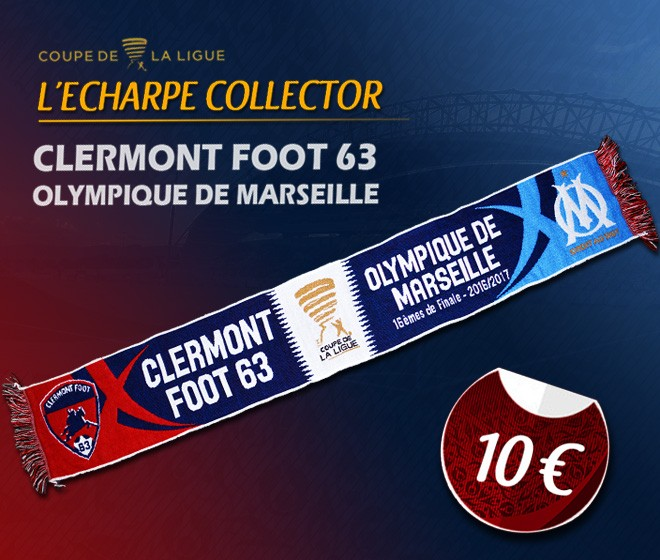 L'écharpe Collector Clermont / OM est en vente !