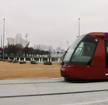 Accès au stade en tramway