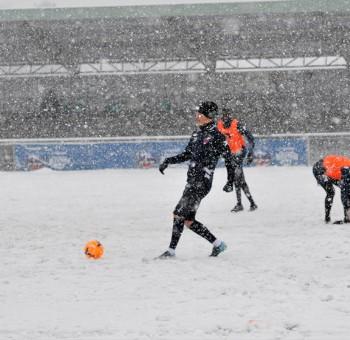 En images : l'entrainement sous la neige