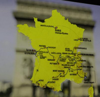 Tour de France: le clin d'oeil du CF63 à Christian Prudhomme