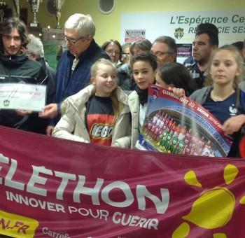 Lorenzo Rajot à Ceyrat pour le Téléthon