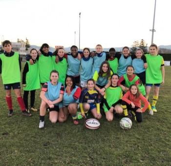 Les U14 Féminines du foot et du rugby se rencontrent aux Gravanches