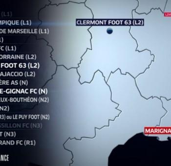 Coupe de France: Clermont ira à Marignane en 32èmes